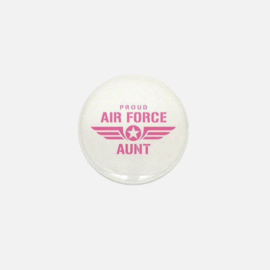 Proud Air Force Aunt W [pink] Mini Button