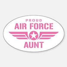 Proud Air Force Aunt W [pink] Sticker (Oval)