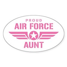 Proud Air Force Aunt W [pink] Stickers
