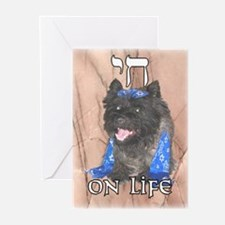 """""""Chai on Life"""" Cairn Terrier Greeting Cards (Packa"""