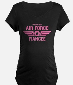 Proud Air Force Fiancee W [pink] T-Shirt