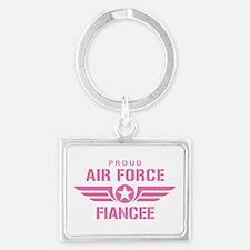 Proud Air Force Fiancee W [pink] Landscape Keychai