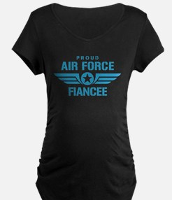 Proud Air Force Fiancee W T-Shirt