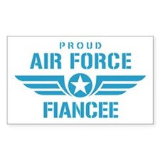 Proud Air Force Fiancee W Decal