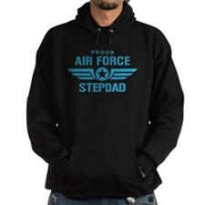 Proud Air Force Stepdad W Hoodie