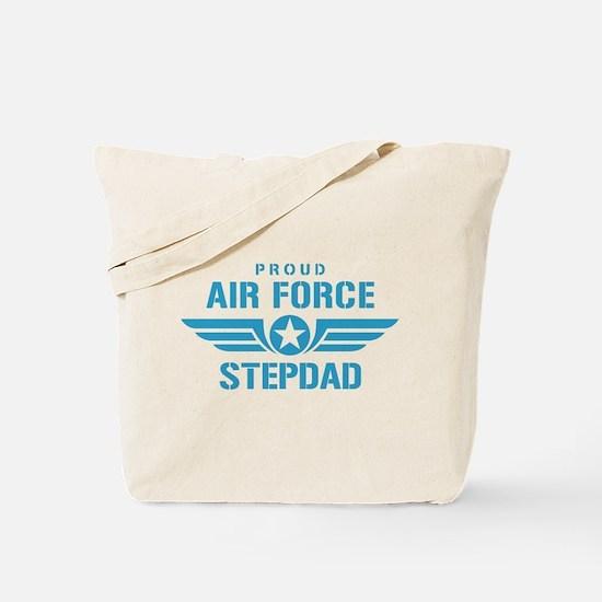 Proud Air Force Stepdad W Tote Bag