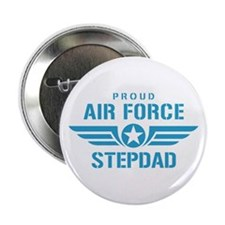 "Proud Air Force Stepdad W 2.25"" Button"