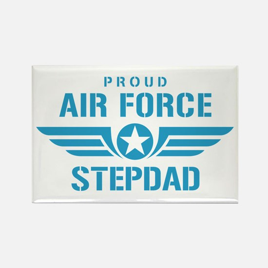 Proud Air Force Stepdad W Rectangle Magnet