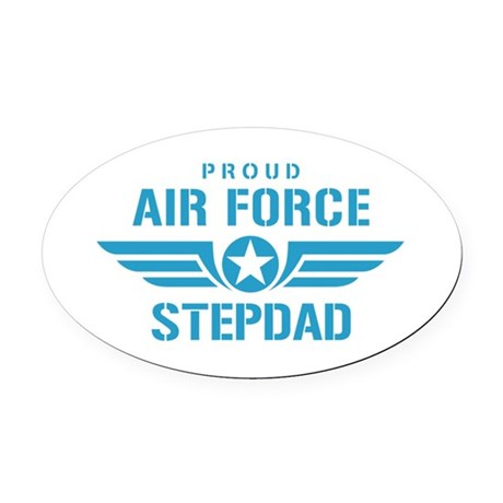 Proud Air Force Stepdad W Oval Car Magnet