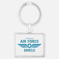 Proud Air Force Uncle W Landscape Keychain