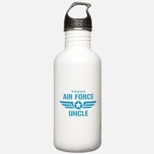 Proud Air Force Uncle W Water Bottle