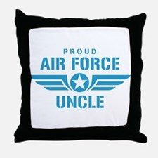 Proud Air Force Uncle W Throw Pillow