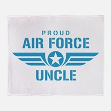 Proud Air Force Uncle W Throw Blanket