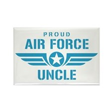 Proud Air Force Uncle W Rectangle Magnet