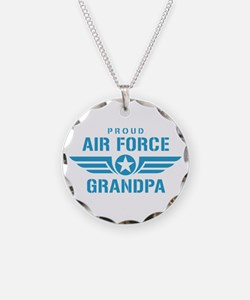 Proud Air Force Grandpa W Necklace