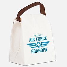 Proud Air Force Grandpa W Canvas Lunch Bag