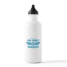 Proud Air Force Grandpa W Water Bottle