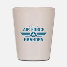 Proud Air Force Grandpa W Shot Glass