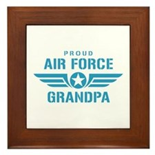 Proud Air Force Grandpa W Framed Tile