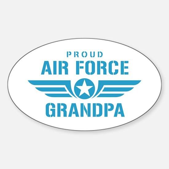 Proud Air Force Grandpa W Sticker (Oval)