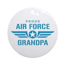 Proud Air Force Grandpa W Ornament (Round)