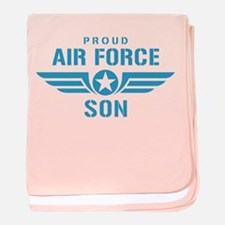 Proud Air Force Son W baby blanket