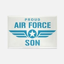 Proud Air Force Son W Rectangle Magnet
