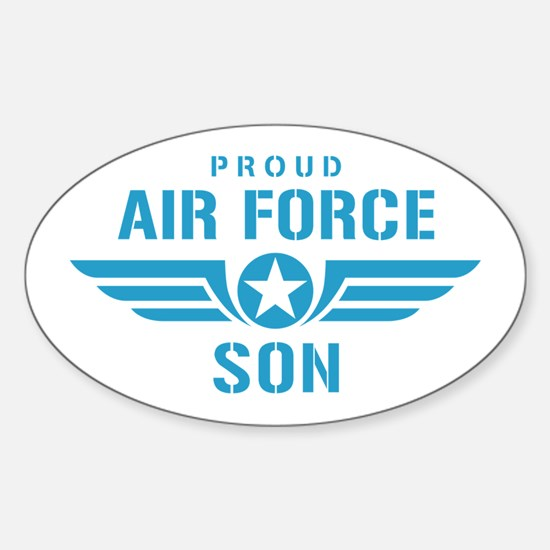 Proud Air Force Son W Sticker (Oval)