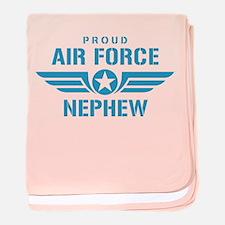 Proud Air Force Nephew W baby blanket