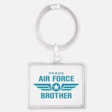 Proud Air Force Brother W Landscape Keychain