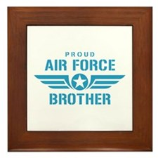 Proud Air Force Brother W Framed Tile