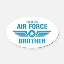 Proud Air Force Brother W Oval Car Magnet