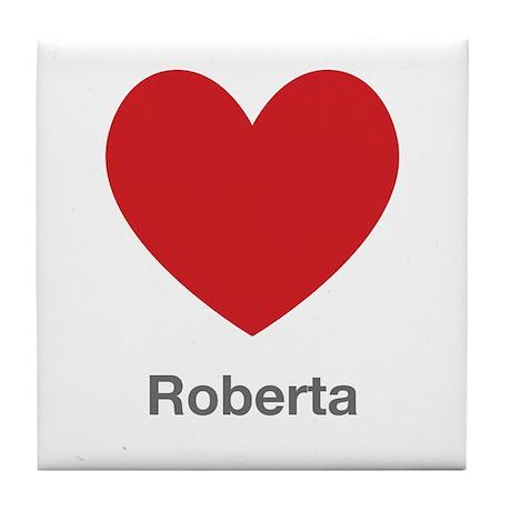 Roberta Big Heart Tile Coaster by UniqueGirlsNames60