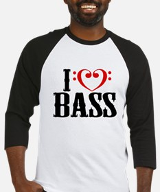 I Love Bass Baseball Jersey