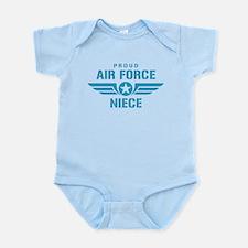 Proud Air Force Niece W Infant Bodysuit