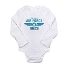 Proud Air Force Niece W Long Sleeve Infant Bodysui
