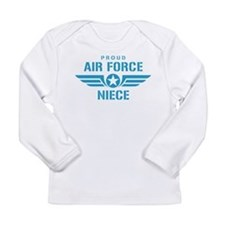 Proud Air Force Niece W Long Sleeve Infant T-Shirt