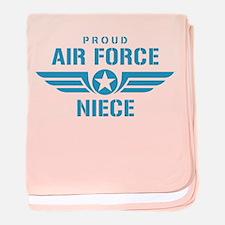 Proud Air Force Niece W baby blanket