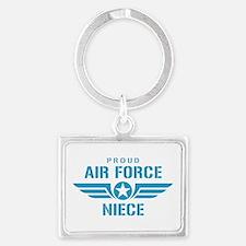 Proud Air Force Niece W Landscape Keychain