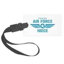 Proud Air Force Niece W Luggage Tag
