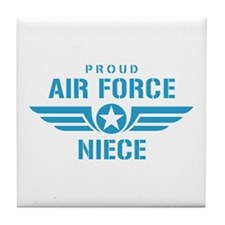 Proud Air Force Niece W Tile Coaster