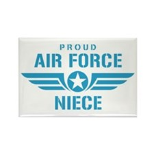 Proud Air Force Niece W Rectangle Magnet