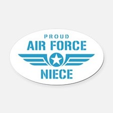 Proud Air Force Niece W Oval Car Magnet