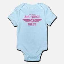 Proud Air Force Niece W [pink] Infant Bodysuit