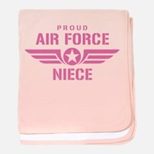 Proud Air Force Niece W [pink] baby blanket