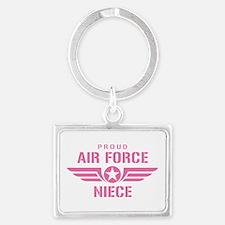 Proud Air Force Niece W [pink] Landscape Keychain