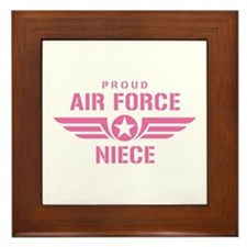 Proud Air Force Niece W [pink] Framed Tile