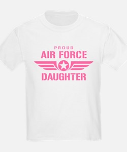Proud Air Force Daughter W [pink] T-Shirt