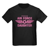 Air force daughter Kids T-shirts (Dark)
