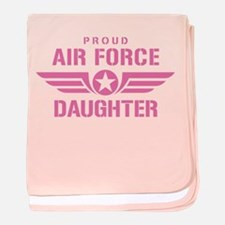 Proud Air Force Daughter W [pink] baby blanket